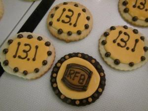 Finisher cookies for the Rock n' Roll 1/2